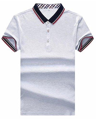 SANKU メンズ ポロシャツ 半袖 無地 ボダン付き polo ゴルフ メンズ半袖 夏 tシャツ 無地 綿 スポーツ ビジネス 柔らかい おしゃれ 通気性 速乾性 ファション 人気 カットソー クール 大きいサイズ