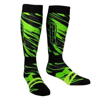 AXO MX Prodigy Socks (Black/Fluorescent-Green, One Size)