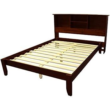 Amazon Com Stockholm Solid Wood Bamboo Platform Bed Frame