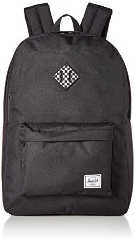 - Herschel Heritage Backpack, Black/Checkerboard, One Size