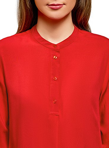 4501n Chemisier Collection en Viscose Femme Rouge oodji vas Ed0xq