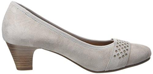 Jana 22300 - Zapatos de Tacón Mujer Gris - Grau (LT. GREY SUEDE 224)