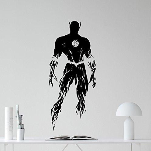 flash-wall-decal-flash-superhero-comics-cartoon-poster-wall-vinyl-sticker-kids-teen-boy-room-nursery