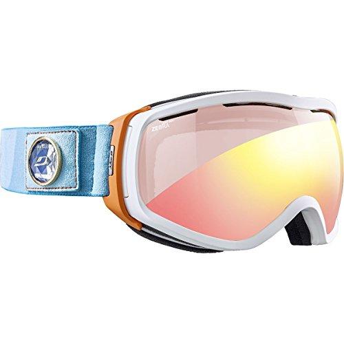 Elara Otg avec écran Zebra Light Rouge - Masque ski Blanc / Orange / Turquoise