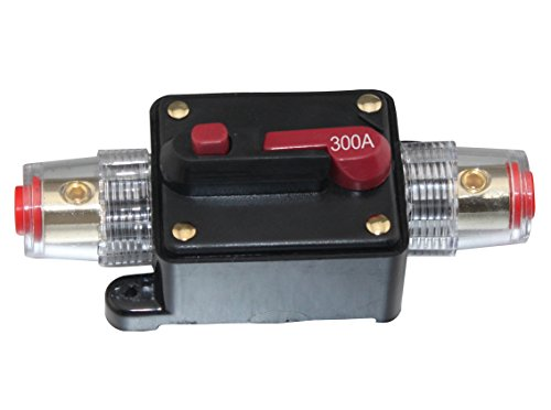 300A Car Audio Inline Circuit Breaker Fuse for 12V Protection CB-04-300A