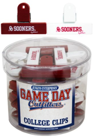 Game Day Outfitters 1936553 University of Oklahoma - Magnet College Clip Small 2 Assorted 24 DP - Case of 144 by Game Day Outfitters