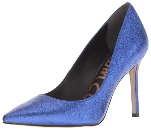 Sam Edelman Women's Hazel Pump, Royal Blue/Metallic Leather, 10.5 M US
