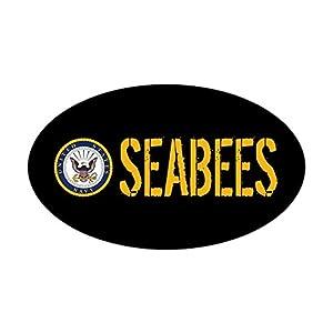 CafePress U.S. Navy: Seabees (Black) Sticker Bumper Sticker by CafePress