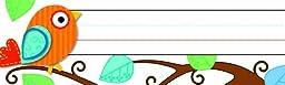 Carson Dellosa Boho Birds Nameplates (119030)