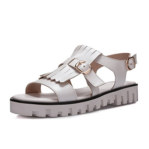 AdeeSu Womens Ruched Non-Marking Mini-Size Urethane Sandals SLC03891 Beige 50zfixG3