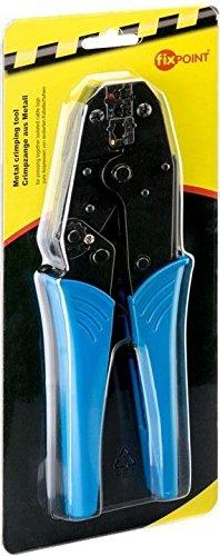 Fixpoint 11790 Crimpzange für isolierte Kabelschuhe, Aderendhülsenzange in der Profi Ausführung, 0,25 mm² - 6 mm²…