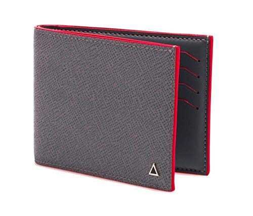 Made in FRANCE -- LUXURY WALLET GAMBETTA in grey calfskin by Anonyme Paris