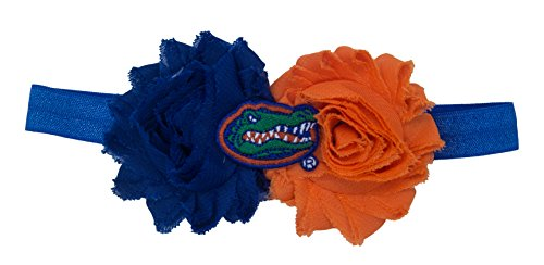 Florida Gators Flower - Divine Creations NCAA Florida Gators UnFRAYgettable Flower Baby Headband, One Size, Royal