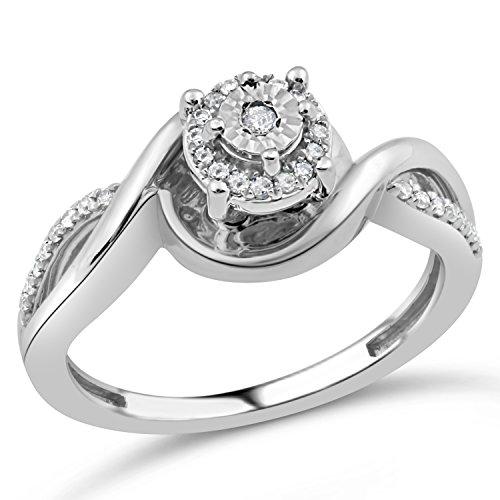 Diamond Promise Ring in Rhodiu