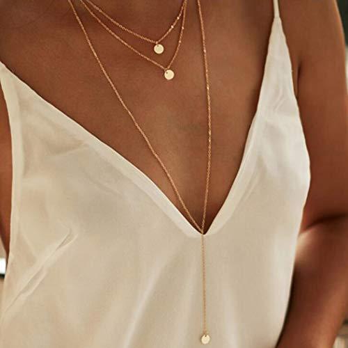Zoestar Sequine Necklace Multila...