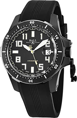Ball DM2176A-P1CAJ-BK Watch Engineer Hydrocarbon Mens - Black Dial Steel Case Automatic - Coating Titanium Dlc Black
