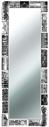 Lupia Specchio da Parete Voyager 50X135 cm Black