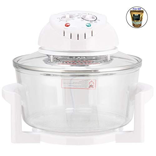 - 1300W Infrared Halogen Convection Turbo Oven Cooker Glass Bowl Only by eight24hours + SPECIAL GIFT Organic Natural Silk Cocoons