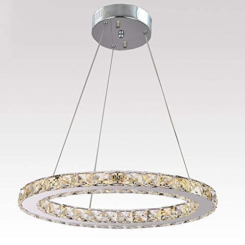 Windsor Home Deco WH-63146 Pendant Lamp, American Modern Crystal Round Pendant Chandelier, Pendant Lights LED for Bedrooms Dining Room Lighting