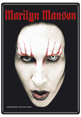 Poster Face Shot - Marilyn Manson Headshot Large Textile Poster 44