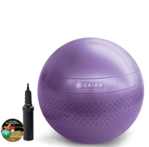 Gaiam Total Body Balance Ball Kit Purple 55cm FREE & FAST SHIPPING