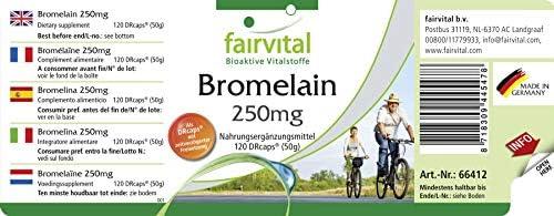 Bromelina suplemento 250mg - VEGANO - Altamente dosificado ...
