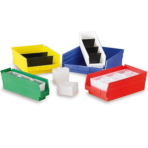 - Akro-Mils Small Parts Shelf Bins - 6-5/8 X17-7/8 X4
