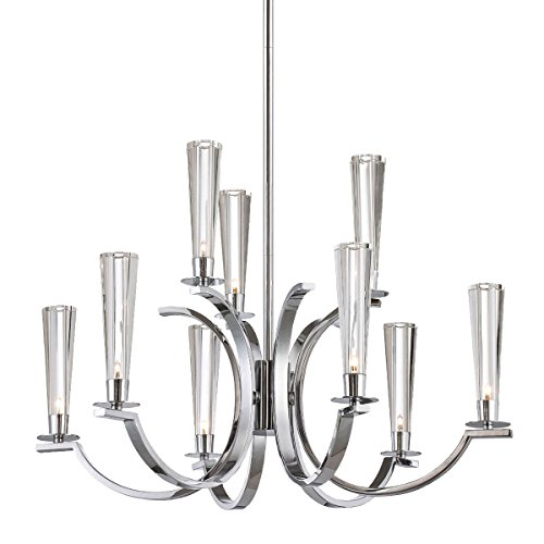 (Eurofase 25634 Cromo 9-Light Chandelier, Polished Chrome)