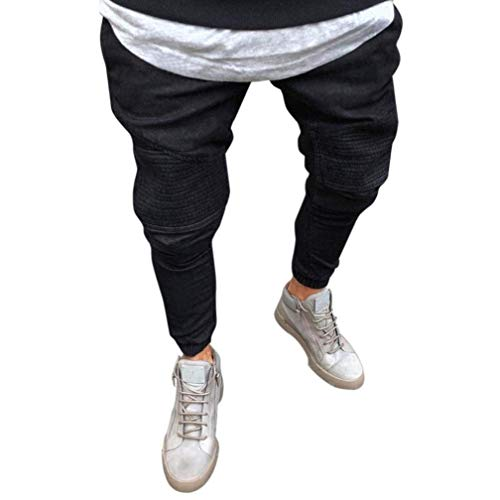 Jeans Stripe Di Pantaloni Progettazione Nero Summer Casual Nuova In Outdoor Marca Elasticizzato Mode Dritti Fit Denim Slim Uomo Lunghi Skinny Da qarCqx8wO