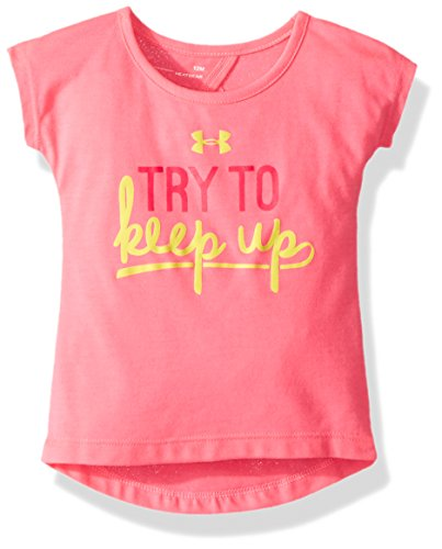 Under Armour Baby Girls Attitude SS Tee Shirt, Pink Punk SU192, 24M