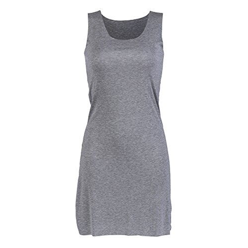 Moxeay Women's Classic Extra Long Ultra Stretch Tank Top Vest (Large
