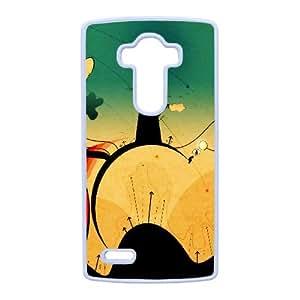Cartón Sunset Lg caja del teléfono celular G4 funda blanca del teléfono celular Funda Cubierta EEECBCAAH79534