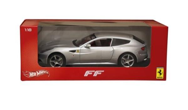 Amazon.com: Hot wheels X5525 Ferrari FF Silver 1/18 Diecast Car Model by Hotwheels: Toys & Games