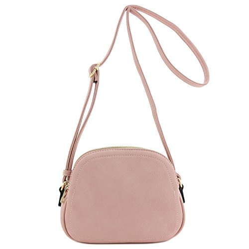 Pink Bag Dusty Moon Zip Half Crossbody Double xzqwP6a4