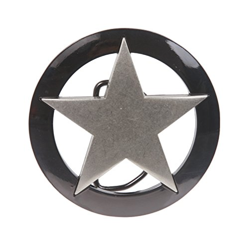 (Famous Marshall Law Texas Star Belt Buckle Color: Antique Silver)