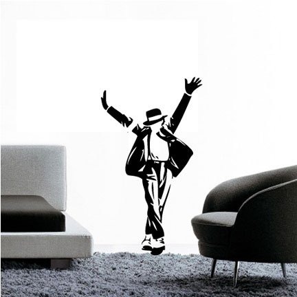 - WS00255 King of Pop Wall Decal Fuschia Vinyl Graphic Wall Decal Sticker