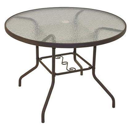 amazon com rio brands 40 inch sienna round patio table with rh amazon com