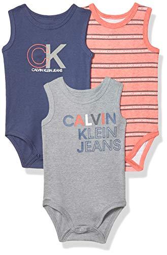 Calvin Klein baby-boys 3 Pieces Pack Bodysuits