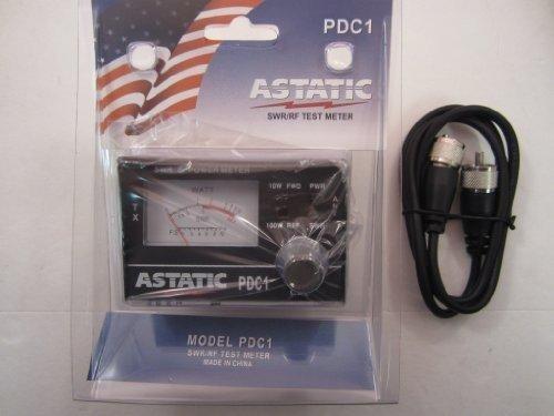 ASTATIC PDC1 100 Watt SWR/RF TEST METER W/ Workman 3 foot jumper CX-3-PL-PL