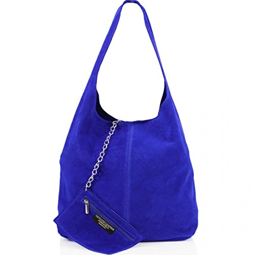 Ladies Women Real Suede Leather Hobo Shoulder Handbag