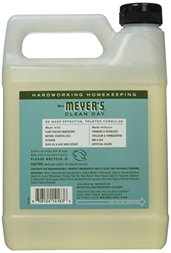 Mrs. Meyers - Liquid Hand Soap Refill, Basil - 33 Ounce