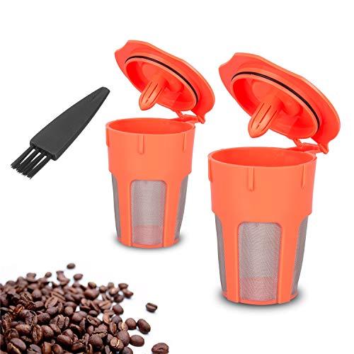 (Xcellent Global 2 Pack Reusable Coffee Filter, Reusable K-Cups for Carafe, Keurig 2.0, K200, K300, K400, K500 Series)