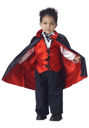 [Little Boys' Vampire Costume Large (4-6)] (Toddler Vampire Halloween Costumes)