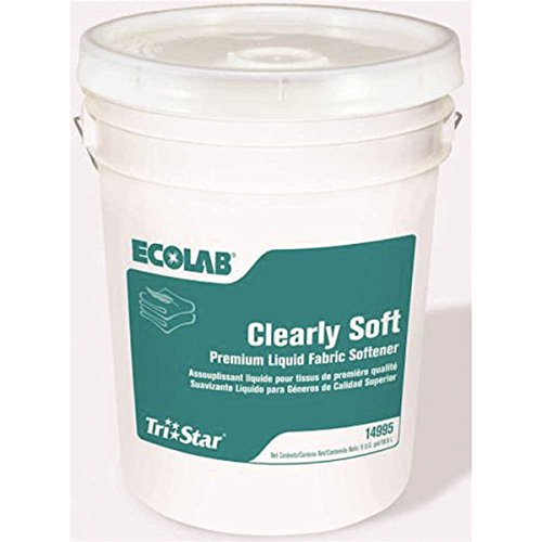 Ecolab Tri-Star Clearly Softener Soft Fabric Clean Springtime Scent - 5GL