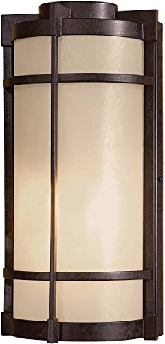 (Minka Lavery Outdoor Wall Light 72020-A179-PL Mirador Exterior Pocket Sconce Lantern, 13w Fluorescent, Bronze)