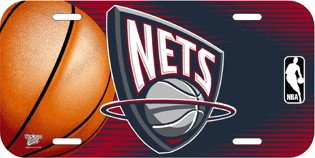 NBA New Jersey Nets License Plate by TeamFanatics