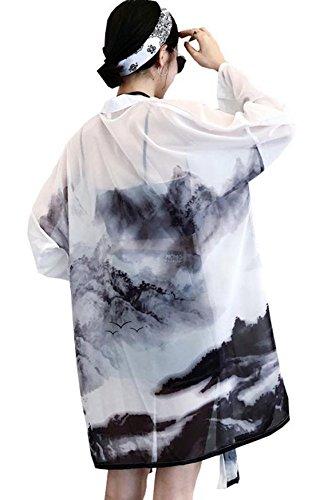 (ニカ) レディース カーディガン シフォン トップス 日焼け止め コート 夏 薄手 冷房対策