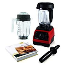 Vitamix Professional Series 300 Ruby Red Blender With Wet Container, Dry Grains Container, and 2 Cookbooks by Vitamix