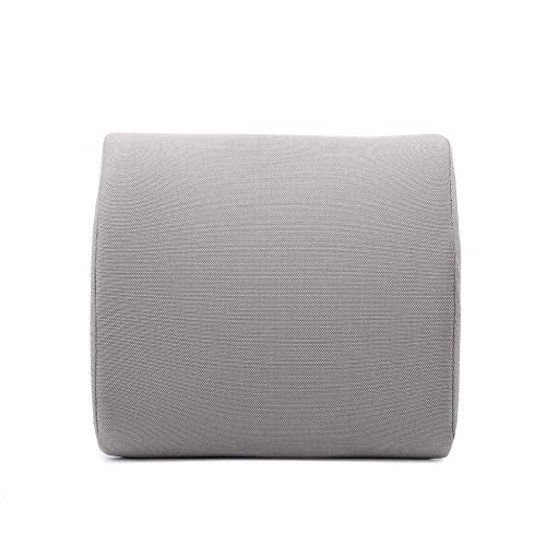 Cxmm Durable, ergonomic and lumbar, non-deformable memory cotton, suitable for car seats, silver gray: