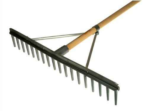 Faithfull Aluminium Landscape Rake C/W Handle FAIALR Digging and Cultivating Tools Garden - Landscape Rakes Garden Tools